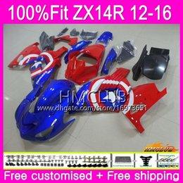 $enCountryForm.capitalKeyWord Australia - Injection For KAWASAKI NINJA ZZR 1400 ZX 14R 2012 2013 2014 2015 2016 73HM.56 ZX-14R ZZR1400 ZX14R 12 13 14 15 16 OEM Sale Red Blue Fairing
