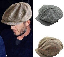 6a0bb6e874d New Men Women Retro Baker Boy Hat Newsboy Hats Gatesby Tweed Country Golf  Sun Flat Beret Cap