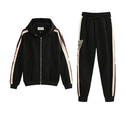 Zip sweatshirt jacket online shopping - Italy Designers zip up sweatshirt stripe Jersey Printed Mens Hoodies ZIP UP Jacket Coat Men Women Sweatshirts Pant Man Trousers BWK01