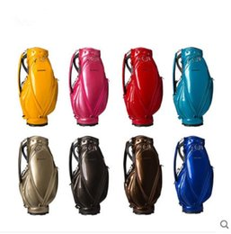 Color Leather Bags Australia - the Newest mirror Brand golf bag solid color men women 8 colors optional golf ball bag pu leather club bags