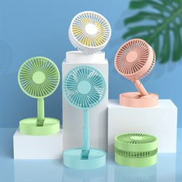 handheld products 2021 - New product telescopic folding handheld usb fan 2020 big wind mini creative light and portable fans dhl free