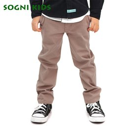 $enCountryForm.capitalKeyWord NZ - 2-12Y Boy oversize Casual Pants Vague School Straight Belt TrouserSpring Autumn Khaki Jeans Children Clothing Toddler