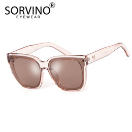 big square sunglasses for men Australia - SORVINO Fashion Retro Shades for Women Men Square Sunglasses 2019 Brand Designer 90s Trendy Big Black mirror UV Sun Glasses P308