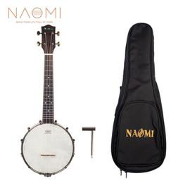 Wholesale NAOMI Banjolele Banjouke Concert-Scale Banjo Ukulele With Gig Bag NUKB-03 Ukulele Banjo Family Instrument