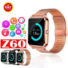 $enCountryForm.capitalKeyWord Australia - Z60 Smart Watch Wristband with Luxury Stainless Steel Support SIM and TF Card Bluetooth Smartwatch for IOS Android with Box