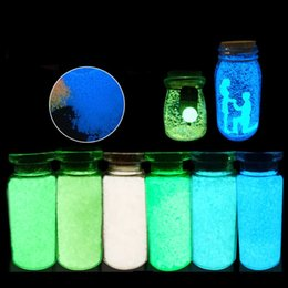glow dark paintings NZ - Fluorescent Glow in the dark 10g Luminous Grain Sand Party DIY Bright Paint Star Wishing Bottle Fluorescent Particles Kids Toys
