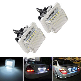 Car Lights Leds Australia - Free shipping Car LED Number Plate Lamps For Mercedes Benz W204(5D) W212 W216 W221 W207 R231 LEDs Auto Number Plate Lights