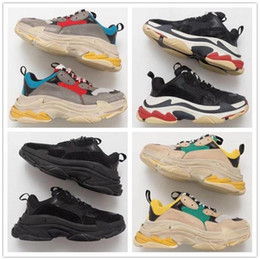 27ebaa24afc63 Fashion Paris 17FW Triple-S Sneaker Triple S Luxury Dad Shoes for Men s  Women Beige Black Cheap Sports Designer Sneaker Size 36-45