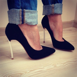 Stiletto Party Office Shoes Australia - 2019 Fashion trend designer shoe patent leather stiletto office party wedding shoes gold, silver, black