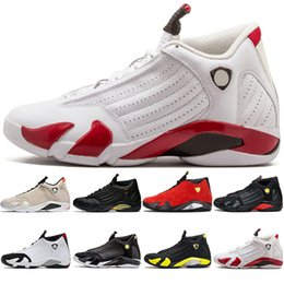 d2009d2bd Nike Air Jordan Retro 14s zapatos de baloncesto 14 hombres Candy Cane  Desert Sand DMP El último disparo Trueno Indiglo Negro Toe Mens Trainer  Zapatillas ...