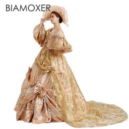 Antoinette dress online shopping - Biamoxer Adult Victorian Medieval Renaissance Costume Lolita Dress Marie Antoinette Theater Ball Gown For Halloween Custom Made