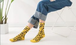 leopard sock NZ - Womens Leopard Print Sock Female Pile Socks Middle tube Socks Cotton Spring Summer College Style Sock