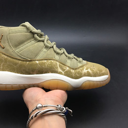 $enCountryForm.capitalKeyWord NZ - Air 11 Olive Lux Neutral Olive AR0715-200 11s XI Kicks Women Basketball Sports Shoes Sneakers Best Quality Trainers With Original Box US7-13