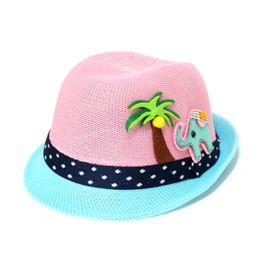 $enCountryForm.capitalKeyWord Australia - Children's grass woven shade hat summer kids cool hat men and women baby outdoor leisure sun hat tide