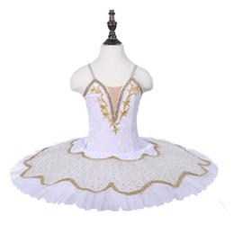$enCountryForm.capitalKeyWord UK - Snow Swan Dance Costumes White Color Gold Decoration Ballet Tutus Girl performance Tutu Skirt Children Pancake