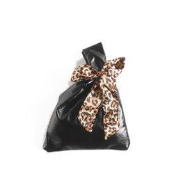 Korea Leather Man Bag Australia - Ins Soft Leopard Handbag 2019 New Korea Style Women Small Mini Messenger Bag Girls Leather Clutch Bag Lady Plush Puffy Vest Bag