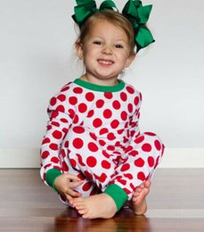red leggings 3t NZ - 2019 New Kids Spring Autumn Clothes Toddler Kids Girls Boy Polka Dot T-shirt Tops+Pants Leggings 2Pcs Christmas Outfits 2 to 7Y