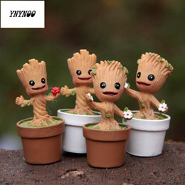 Cute Cartoon Avengers NZ - Ynynoo In Stock Brinquedos Galaxy Mini Cute Model Action And Toy Figures Cartoon Movies And Tv P313