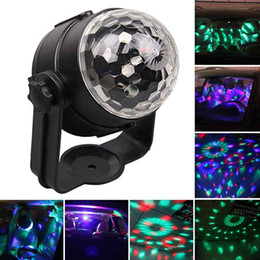 magic ball disco NZ - Disco Light USB Party Laser For Car DJ Magic Ball Sound Control Moving Lamp Head vehicle Disco Projector Stage Lights