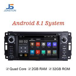$enCountryForm.capitalKeyWord Australia - JDASTON Android 8.1 Car Multimedia Player For Dodge Chrysler Sebring Jeep Compass Commander Grand Cherokee Wrangler GPS Radio