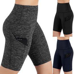 $enCountryForm.capitalKeyWord Australia - New Women Mid Waist Out Pocket Casual Hips Tight Yoga Shorts Running Basic Shorts Bike Sport Fitness Black Tight Rave B1