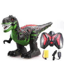 rechargeable toy cars UK - Snaen Remote Control Dinosaur Electric RC Toys Walking Tyrannosaurus Rex Rechargeable Dino for Boys Kids with Light and Sound