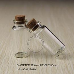 Cork sample bottle online shopping - 100pcs ml Glass Cork Bottle Empty Small Wishing Vial Gift Sample Jar g Pot Makeup Tools Packaging Refillable Can