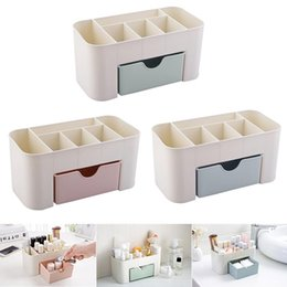 tool box makeup storage Australia - Plastic Makeup Box Organizers High Capacity Jewelry Cosmetic Storage Box with Drawer Acrylic Lipstick Holder Sundries Container