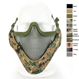 $enCountryForm.capitalKeyWord Australia - Outdoor Shooting Face Protection Gear V9 Metal Steel Wire Mesh Half Face Tactical Mask