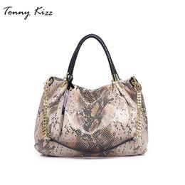 $enCountryForm.capitalKeyWord Australia - Tonny Kizz Big Handbag Women Leather Female Tote Bags With Serpentine Prints Ladies Snake Print Shoulder Bag Hobo J190627