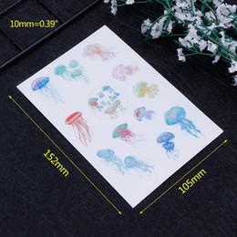 $enCountryForm.capitalKeyWord Australia - 4 Pcs Set DIY Materials Epoxy Resin Crafts Crystal Jellyfish Jewelry Making Filling Photo Album Sticker PVC Self Adhesive Transl