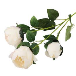 $enCountryForm.capitalKeyWord UK - 3 Heads Silk Peony Artificial Flowers Bouquet Cheap Fake Flowers for Home Wedding Decoration indoor 68CM