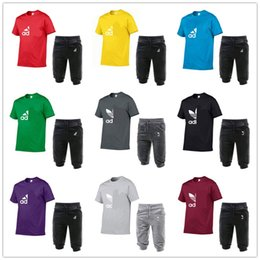 $enCountryForm.capitalKeyWord NZ - Summer Mens Tracksuit A&D Letter Round Neck Short Sleeve Pullover And Casual Jogger Pants Suits Brand Baseball Shorts Sportswear S-XXLC62604