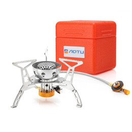 game manual UK - AT6309-B camping With electronic ignition Windproof stainless steel Gas stove Outdoor stove Power: 3200W