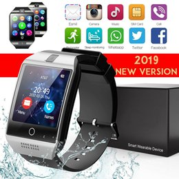 bluetooth smart watch sim Australia - Q18 Smart Watch Bluetooth Smart Watch Ios Android Phone Support SIM Card Camera Answering Phone Smart Wearable Device