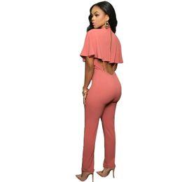 romper red bodysuits 2019 - 2018 Summer Sexy Bodysuits Zipper Women Elegant Vintage Harajuku Bodycon Party Slim Pants Jumpsuits Romper Female Combin