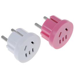$enCountryForm.capitalKeyWord UK - 1pcs US AU To EU Plug USA AUS To Euro Europe Travel Wall AC Power Plug Wall Charger Outlet Adapter Converter 2 Round Pin Socket
