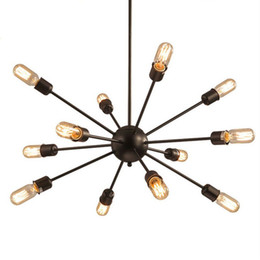 Satellite Work NZ - Satellite chandeliers Vintage wrought iron pendant light Spherical Spider lamp E27 Edison pendant lighting Bar Coffe Lighting