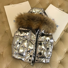 $enCountryForm.capitalKeyWord Australia - Children down vests Kids designer clothes Winter new boys and girls duck down jacket large fur collar designs