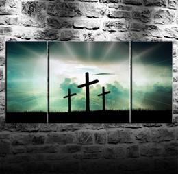 $enCountryForm.capitalKeyWord UK - Jesus Cross,3 Pieces Canvas Prints Wall Art Oil Painting Home Decor (Unframed Framed) .
