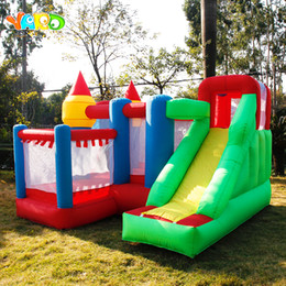 bouncy toys Australia - YARD Free Shipping 6 in 1 All-round Inflatable Bouncer Giant Bouncy House Castle For Kids Party Games