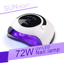 72 battery Australia - SUN BQ5T 72 90W UV LED Nail Lamp For Drying Gel Polish Nail Dryer LCD Display High Powder Auto Sensing Lamp for All Gels LY191228