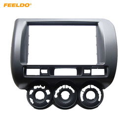 $enCountryForm.capitalKeyWord Australia - FEELDO Car Audio Fascia Frame For HONDA Fit Jazz (RHD) Stereo 2Din DVD Radio Dash Mount Installation Face Frame Kit #3777