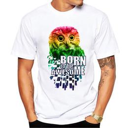 $enCountryForm.capitalKeyWord Australia - New luxury men's designer tshirt classic owl print Tshirts high quality O-neck cotton casual t-shirts street sports private custom tees