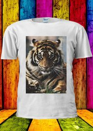 Tiger Tank T Shirts Australia - Artistic Tiger Lion Indie Tumblr T-shirt Vest Tank Top Men Women Unisex 1091 Harajuku Summer 2018 Tshirt Short Sleeve Plus Size T-shirt