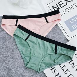 af906e53a1 Girls High Waist Underwear Australia - Women s Briefs Comfortable and Cool  Bamboo Fiber Panties Pure Color