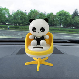 Child Cars online shopping - 1PCs Cute child Solar Powered Dancing Animal Swinging Animated Bobble Dancer Toy Dancing Car inner Decor Toy Best dropshipping