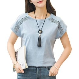plus size clothing batwing shirt Australia - Plus Size Cotton Blouses 2018 Summer Lace Blusas Female Batwing Sleeve Shirts For Womens Tops Shirts Women Clothing 5xl 970c30 MX190712