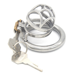 $enCountryForm.capitalKeyWord Australia - Chastity Cage Stainless Steel Chastity Devices Penis Cage BDSM Metal Cock Cage Adult Game for Men G244D