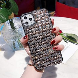 iphone rhinestones phone cases NZ - 2020 Newest Luxury Designer Glass Rhinestone Phone Cover Scratchproof Defender Case For iPhone 11 Pro Xr Xs Max X 6 7 8 Plus